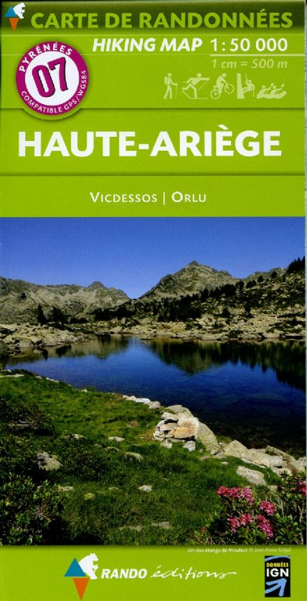 Rando Editions 1:50,000 Walking Map Of the Pyrenees Map 07 - Haute-Ariege - Vicdessos Orlu